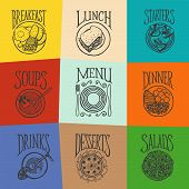 picture of mexican  - Vector hand drawn icons of menu positions - JPG
