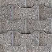 stock photo of paving  - Gray Figured Paving Slabs - JPG