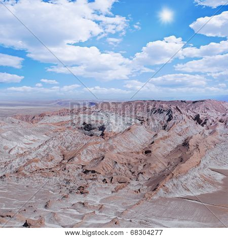 View of Valle de la Muerte (Death Valley).