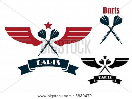 Darts emblems and symbols
