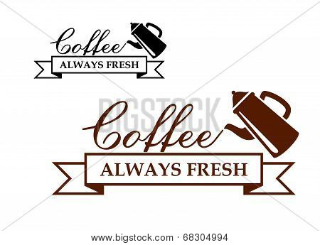 Always Fresh Coffee icon or label