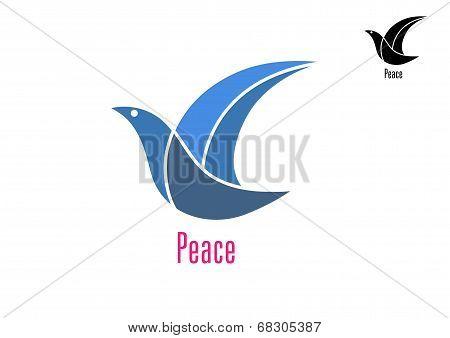 Dove bird as a peace symbol