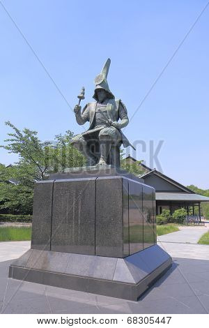 Stature of Japanese Samurai
