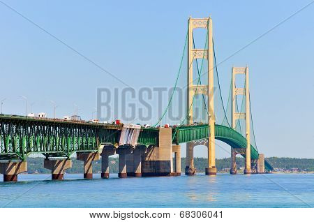 Mackinac Bridge Closeup