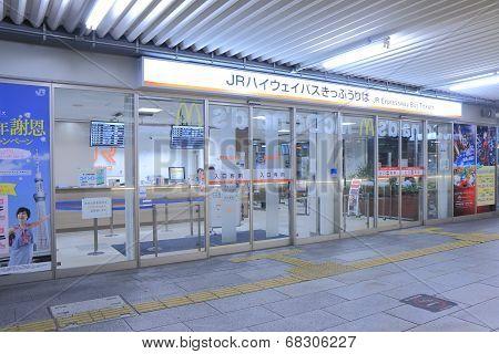 JR Highway Bus Ticket Centre Nagoya Japan