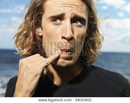 Young Man Making Funny Expression