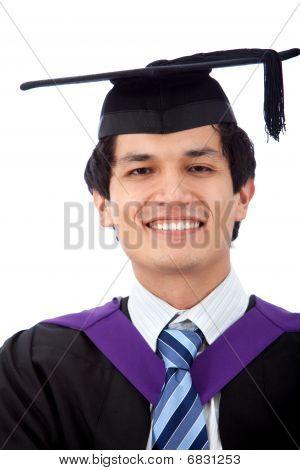 Graduation Man Isolated