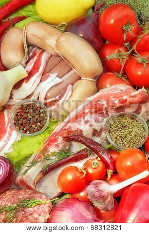 Healthy Food Assortment