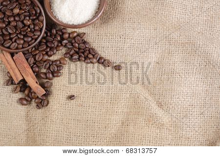 Robusta Coffee Beans at Goni Sack