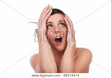 Young Woman Expression - Surprise