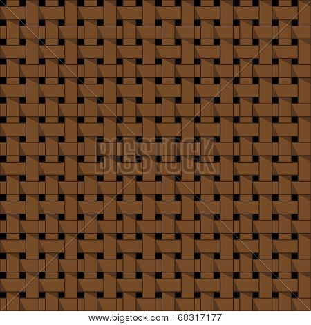 Weaving, Basket. Seamless Abstract Pattern.