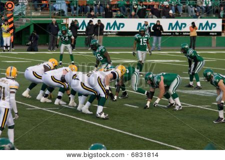 Canadian Football League Game - Roughriders Vs Eskimoes