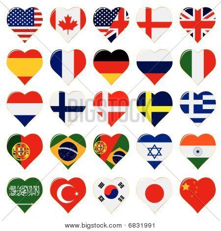 conjunto de ícones de linguagem Web