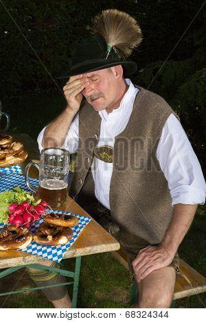 Drunk Bavarian Man