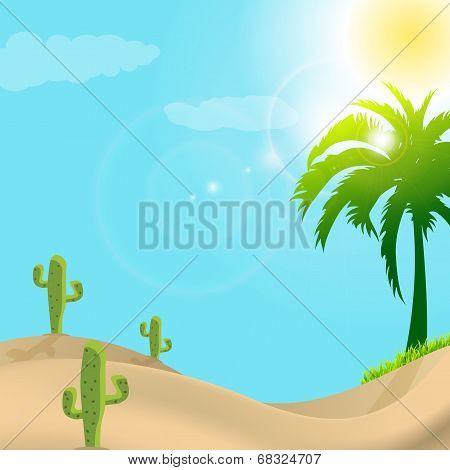 Illustration Of Desert Scene In Day Light