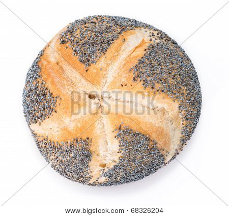 Poppyseed Buns Isolated On White