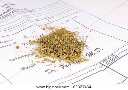 Medical Marijuana on a doctors authorization form