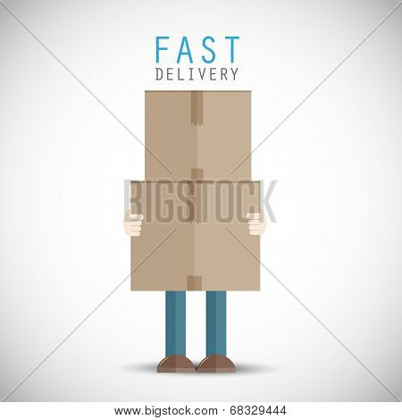 Courier delivery man
