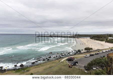 Durnanbah beach in New South Wales, Australia