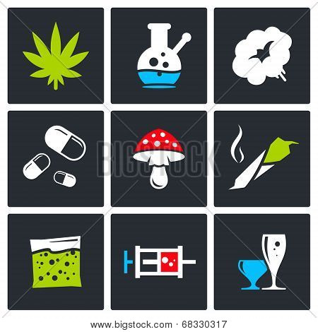 Color Drugs Icon Collection