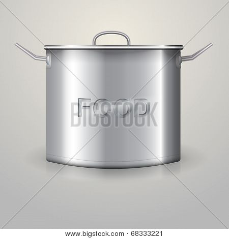 Illustration of high aluminum saucepan