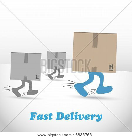 Logistic, shipments and fast delivery boxes