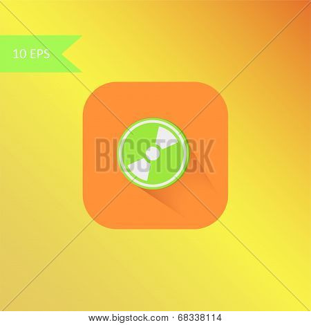 vector flat design mp3 icon element