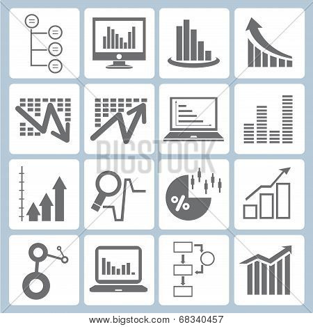 graph icons, chart icons set