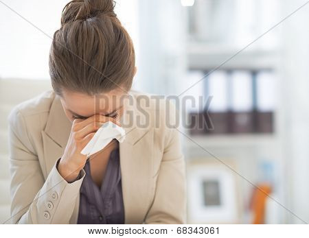 Portrait Of Frustrated Business Woman In Office