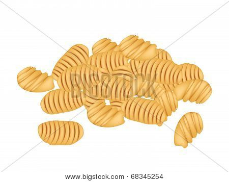 Delicious Thai Caramelized Crisps On White Background