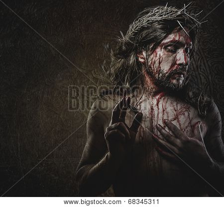 jesus, representation of Calvary, passion