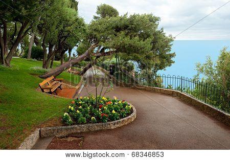 Monaco - Park In Principality Of Monaco.