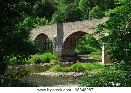 Yair Bridge On The River Tweed In Summer