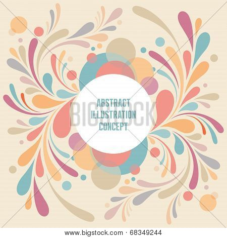 Abstract Geometric Background - Text Modern Frame - Curls vector structure