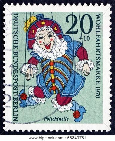Postage Stamp Germany 1970 Polichinelle, Puppet