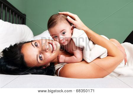 Happy Woman With Her Baby
