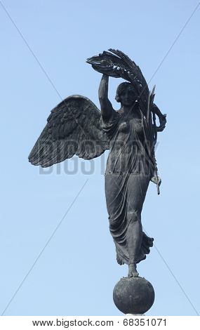 PARMA, ITALY - MAY 01,2014: Angel of Victory. Parma is famous for its ham, cheese and architecture. It is home to the University of Parma, one of the oldest universities in the world.
