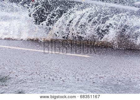Car Splashing Water