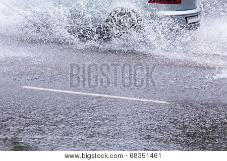 Car In Floods