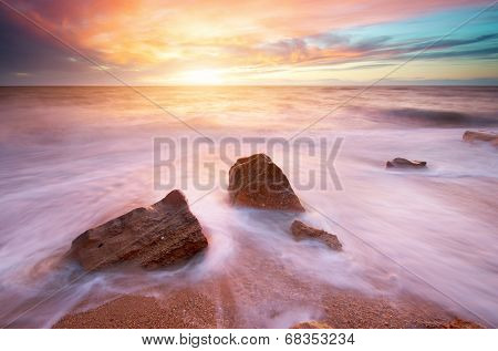 Beautiful seascape. Nature composition.