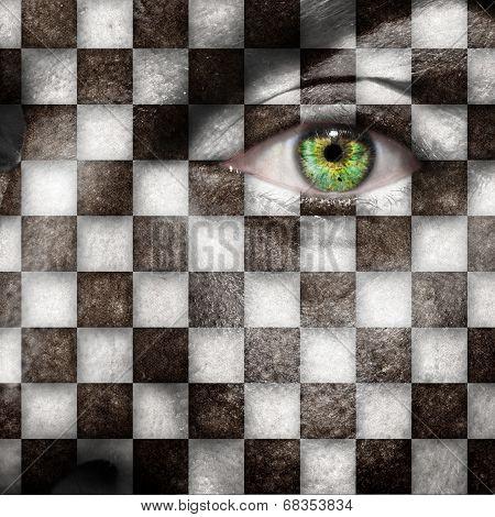 Checkered Face