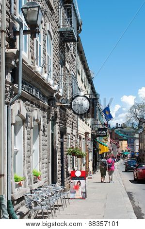 Quebec City - May18: A View Of Saint-louis Street On May18, 2014 In Quebec City During A Beautiful S