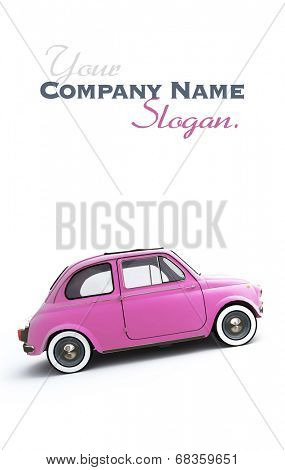 Pink retro Italian car
