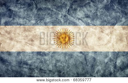 Argentina grunge flag. Vintage, retro style. High resolution, hd quality. Item from my grunge flags collection.