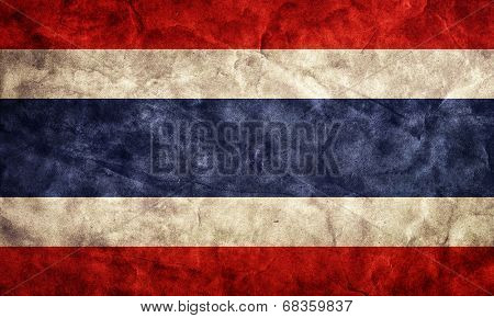 Costa Rica grunge flag. Vintage, retro style. High resolution, hd quality. Item from my grunge flags collection.