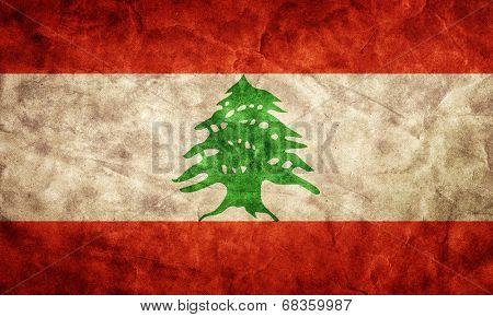 Lebanon grunge flag. Vintage, retro style. High resolution, hd quality. Item from my grunge flags collection.