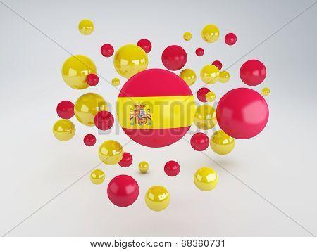 National Flag Of Spain  On Sphere