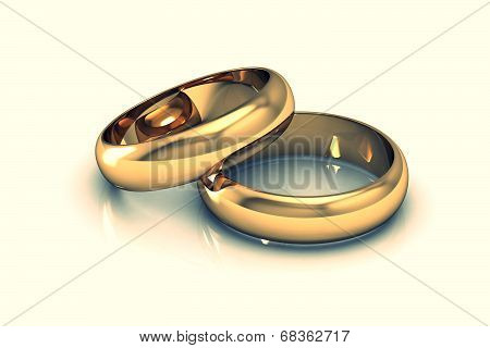 Jewellery ring on a white background (high resolution 3D image)