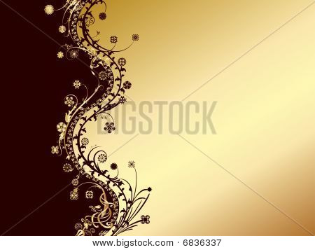 gold and black invitation card