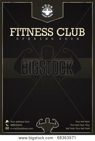 Gym, Fitness club vector event poster design
